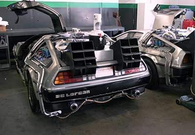 back to the future time machine car